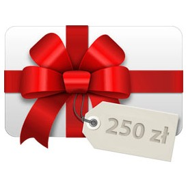 Tarjeta de regalo 250 PLN Tarjetas de regalo