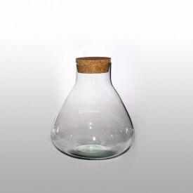 Vase 24 cm mit Korkdeckel