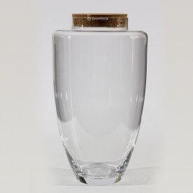 """Vase 45 cm """"Jogo"""" avec couvercle en liège"""
