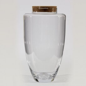 "Vase 45 cm ""Jogo"" with a cork lid Glass jars"