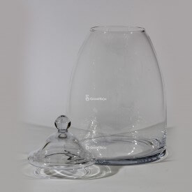 Vase jar 40cm with a glass lid Home