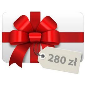 Tarjeta de regalo 280 PLN Tarjetas de regalo