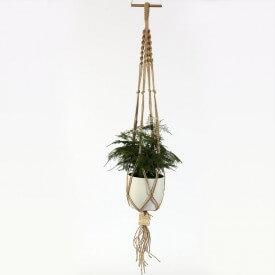 Asparagus Eco macrame brown and white Home