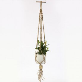 Spathiphyllum Eco macrame brown and white Home
