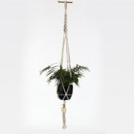 Asparagus Eco macrame black and white Home