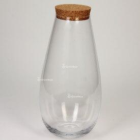 """Vase jar 37 cm """"Tokyo"""" with a cork lid Glass jars"""
