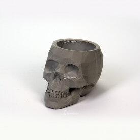 Decorazioni 3D in calcestruzzo del cranio grigio