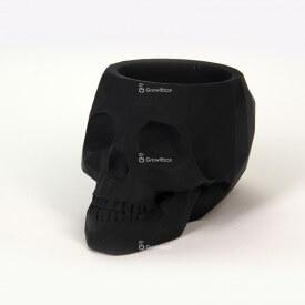 Teschio nero 3D Decorazioni in calcestruzzo
