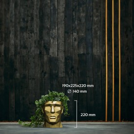 APOLLO classico oro metallizzato Decorazioni in calcestruzzo