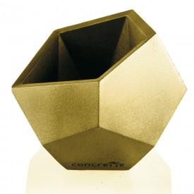 Geometric square metallic gold Concrete decorations