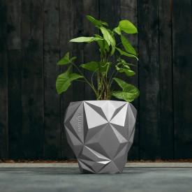 Geometric silver concrete cover Concrete decorations