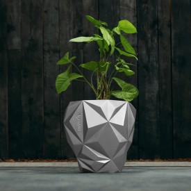 Osłonka betonowa Geometric srebrna Betonowe dekoracje
