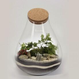"""DIY-Glas """"Barcelona"""" 37cm Farn Wald im Glas"""