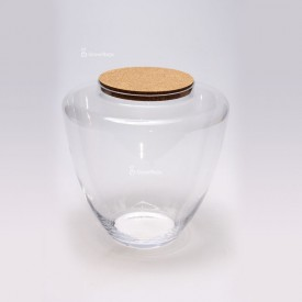 Vase 34 cm with cork lid Glass jars