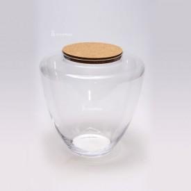 """Vaso """"Jogo"""" 34 cm con coperchio in sughero"""