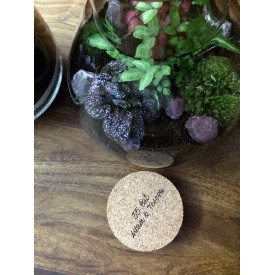 Additional service - engraving on the cork lid Cork lids