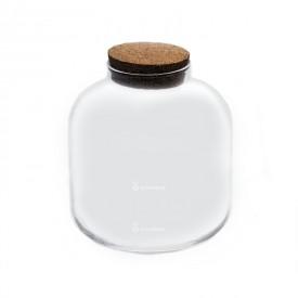 """Jarrón de 22 cm """"Barrel mini"""" con tapa de corcho"""
