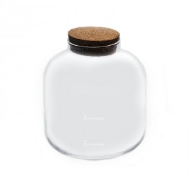 "Vasenglas 22 cm ""Barrel mini"" mit Korkdeckel"