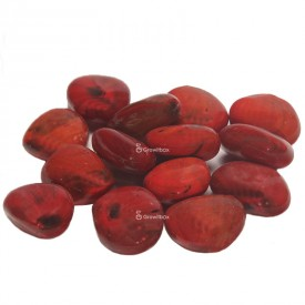 Ceramic pebble red Stones