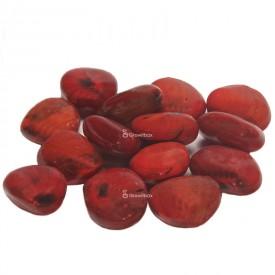 Galet de céramique rouge Pierres