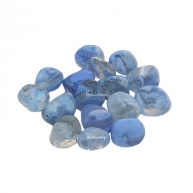Glas Kieselstein blau Steine
