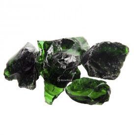 Bloque de vidrio verde Piedras
