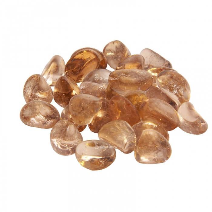 Honey glass pebble Stones
