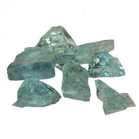 Pierres de verre turquoise