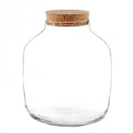 """Vaso vaso 30 cm """"Piccola botte"""" con coperchio di sughero"""