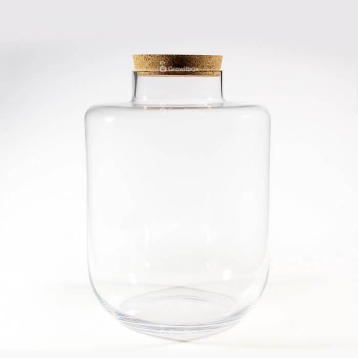 Duży szklany słój 40 cm z pokrywką korkową Strona główna
