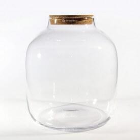 """Vase jarre 38 cm """"Barrel"""" avec couvercle en liège"""