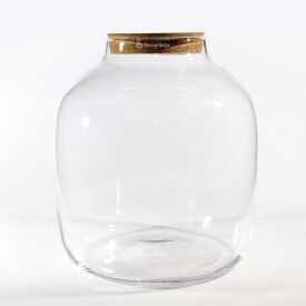 "Vasengefäß 38 cm ""Barrel"" mit Korkdeckel"