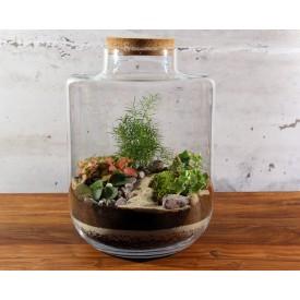 40 cm vase with a cork lid Glass jars